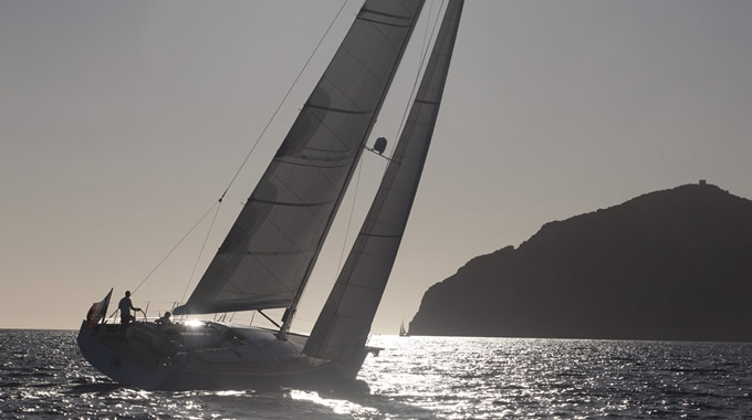 Sailing in the sea of ​​Porto Ercole